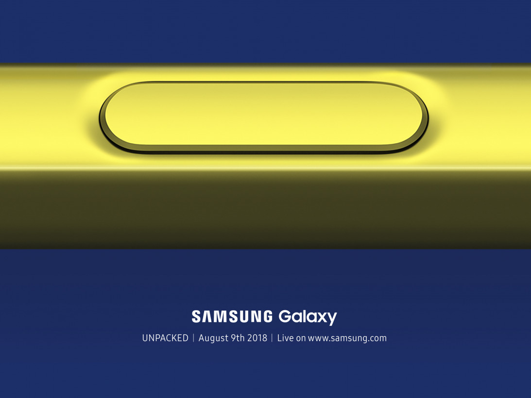 Samsung Galaxy Note 9 invite