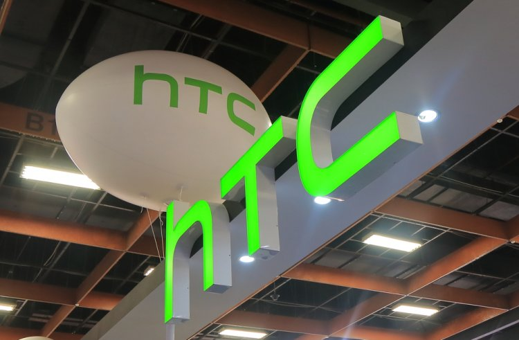 HTC logos near a showroom