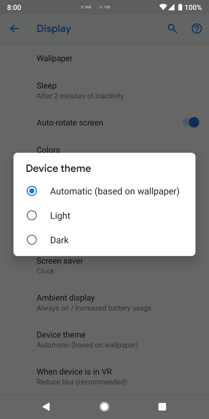 Toggle for launcher themes