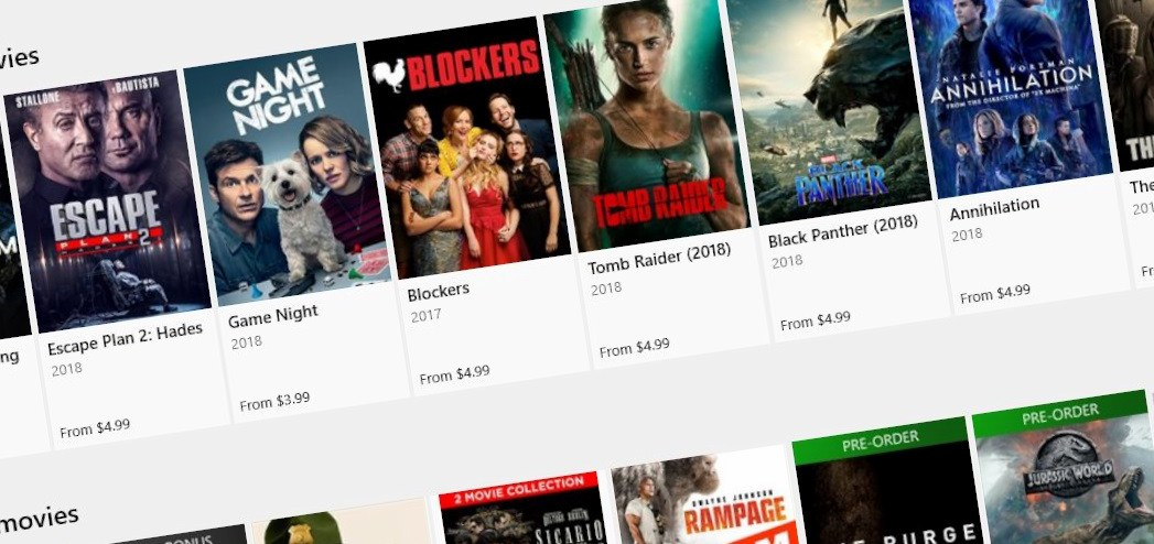 Microsoft Movies and TV App