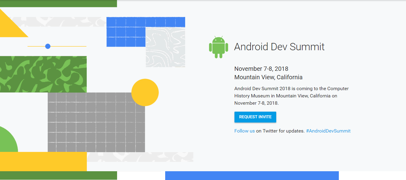 Android Dev Summit Invite Page