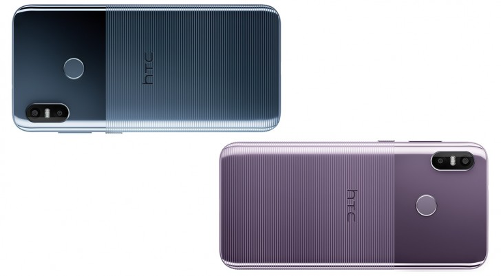 Blue and Purple colors of HTC U12 Life
