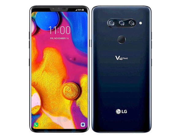 LG V40 ThinQ front and back