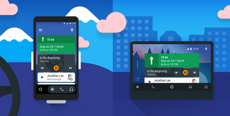 Google Maps on the Android Auto