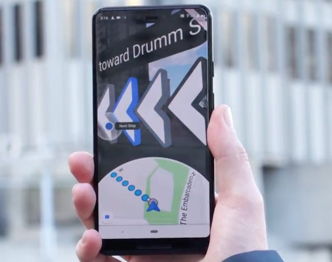 Google Maps AR - Navigation