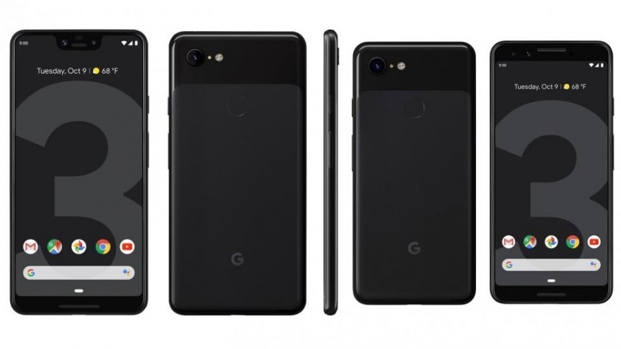 Google Pixel 3 and Pixel 3XL front