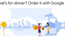 Food ordering via Google Maps and Google Assistant