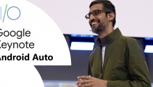 Google IO Android Auto banner