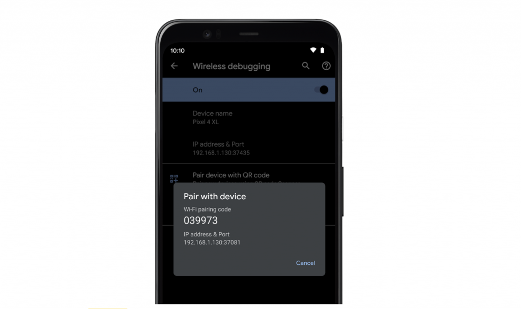 Android 11 Developer Preview 3 - Wireless Debugging